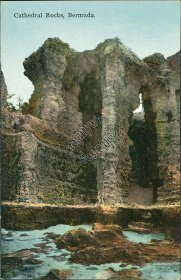 Cathedral Rocks, Bermuda - Early 1900's Postcard