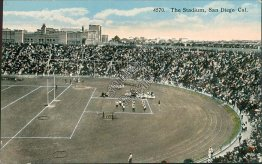 Football Stadium, San Diego, CA California - Early 1900's Postcard
