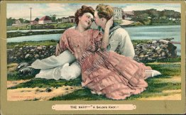 The Navy - A Sailor Knot - Early 1900's Lovers Postcard