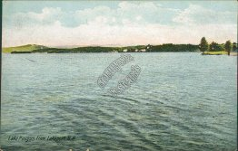 Lake Paugus from Lakeport, NH New Hampshire - 1907 Postcard