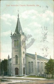 First Methodist Church, Huntsville, AL Alabama - 1907 Postcard