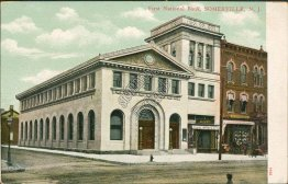 First National Bank, Somerville, NJ New Jersey Pre-1907 Postcard