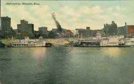 Steamers, Approaching Memphis, TN Tennessee - 1912 Postcard