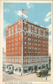Gay Teague Hotel, Montgomery, AL Alabama - Early 1900's Postcard