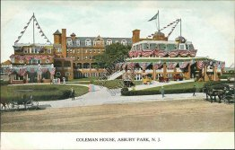 Coleman House Hotel, Asbury Park, NJ New Jersey - Early 1900's Postcard