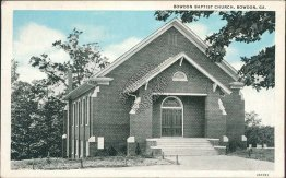 Baptist Church, Bowdon, GA Georgia - Early 1900's Postcard