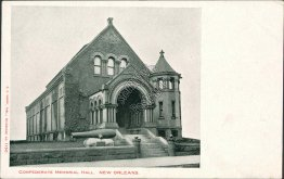 Confederate Memorial Hall, New Orleans, LA Louisiana Pre-1907 Postcard