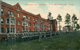 Battalion Drill, University of Florida UF, Gainesville, FL Early 1900's Postcard