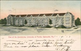 Dormitories, University of Florida, UF Gainesville, FL Florida Pre-1907 Postcard