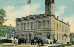 Fire Department, Sheboygan, WI Wisconsin - Early 1900's Postcard