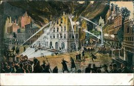 Fire Fighting Illustration, Engines - 1908 Postcard