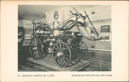 Americus Fire Engine No. 6, 1851, Museum, New York City, NY Postcard