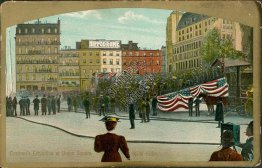 Firemen, Firefighter Exhibiton, Union Square, New York City, NY - Early Postcard