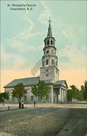 St. Michael's Church, Charleston, SC South Carolina - Early 1900's Postcard