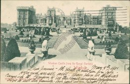 Windsor Castle from Royal Gardens, Windsor, Berkshire, England UK 1901 Postcard