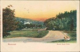 Mount Royal Park, Montreal, QC Quebec, Canada 1903 Postcard