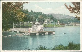 Endicott Rock, Weirs, Lake Winnipesaukee, NH New Hampshire Early 1900's Postcard