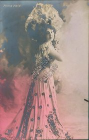 Anna Held, Jewish Polish Actress Pre-1907 Real Photo RP Broadway Girl Postcard