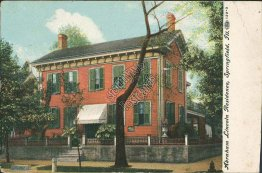 Abraham Lincoln Residence, Springfield, IL Illinois - 1908 Postcard