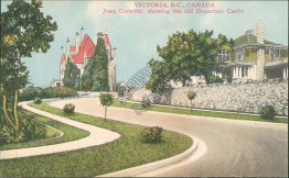 Joan Crescent, Dunsmuir Castle, Victoria, BC, Canada - Early 1900's Postcard