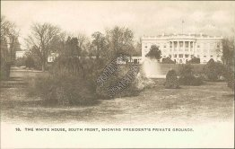 White House, South, President Private Grounds, Washington, DC Pre-1907 Postcard