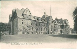 Lincoln Hall, Cornell University, Ithaca NY New York Pre-1907 ROTOGRAPH Postcard