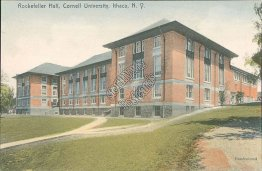 Rockefeller Hall, Cornell University, Ithaca, NY Early 1900's ROTOGRAPH Postcard