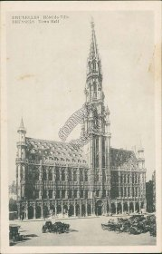 Town Hall, Brussels, Belgium - Early 1900's Postcard