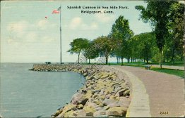 Spanish Cannon, Sea Side Park, Bridgeport, CT Connecticut - 1912 Postcard