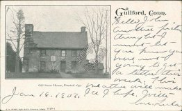 Old Stone House, Guilford, CT Connecticut Pre-1907 Postcard
