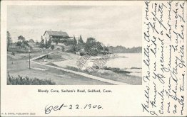 Bloody Cove, Sachem's Head, Guilford, CT Connecticut 1906 Postcard