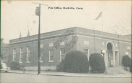Post Office, Rockville, CT Connecticut - Early 1900's Postcard