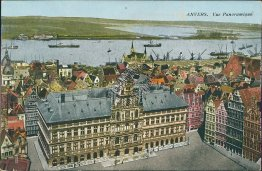 Panoramic View, Anvers, Antwerp, Belgium - Early 1900's Postcard