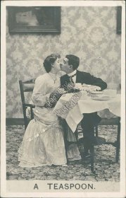 A Teaspoon, Lovers, Salt Lake City, UT Utah 1908 Real Photo RP Postcard
