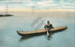 Eskimo and His Kayak, Seattle, WA Washington - Early 1900's Postcard