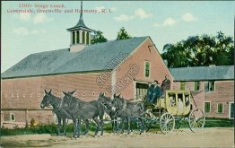 Stage Coach, Centredale, Greenville, Harmony, RI Rhode Island - Early Postcard