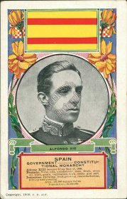Alfonso XIII, King of Spain Portrait - Early 1900's Postcard