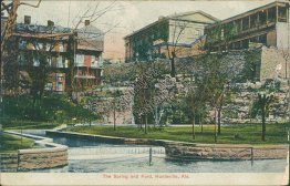 Spring and Ford, Huntsville, AL Alabama - 1908 Postcard