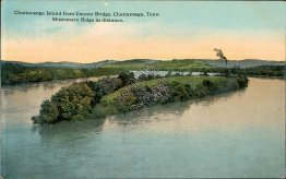 Island, County Bridge, Missionary Ridge, Chattanooga, TN - Early 1900's Postcard