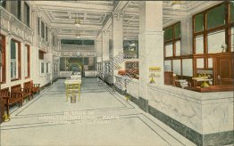 Interior of Hamilton National Bank, Chattanooga, TN - Early 1900's Postcard