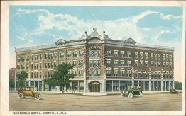 Sheffield Hotel, Sheffield, AL Alabama - Early 1900's Postcard