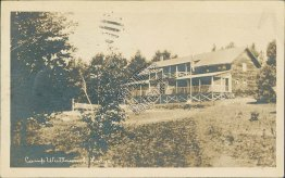 Girls Camp, Camp Wuttaumoh Lodge, Canaan, NH - 1920 Real Photo RP Postcard