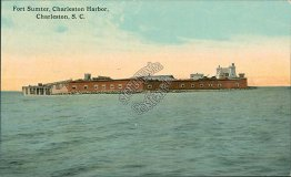Fort Sumter, Harbor, Charleston, SC South Carolina - Early 1900's Postcard