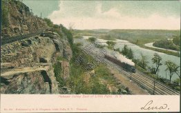 Train, Mohawk Valley, East of Little Falls, NY New York 1906 Postcard