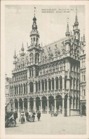 King's House, Brussels, Belgium - Early 1900's Postcard