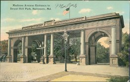 Madison Ave., Druid Hill Park, Baltimore, MD Maryland - Early 1900's Postcard