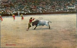 Bull Fighter, Fighting w/ Banderillas - Early 1900's Postcard