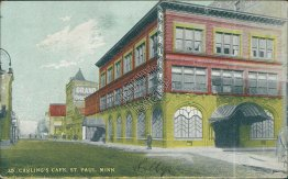Carling's Cafe, St. Paul, MN Minnesota - Early 1900's Postcard