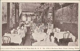 Colaizzi Restaurant, Dining Room, New York City, NY 1911 Postcard