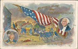 Memories of the War for Independence, Battle of Trenton - 1908 Embossed Postcard